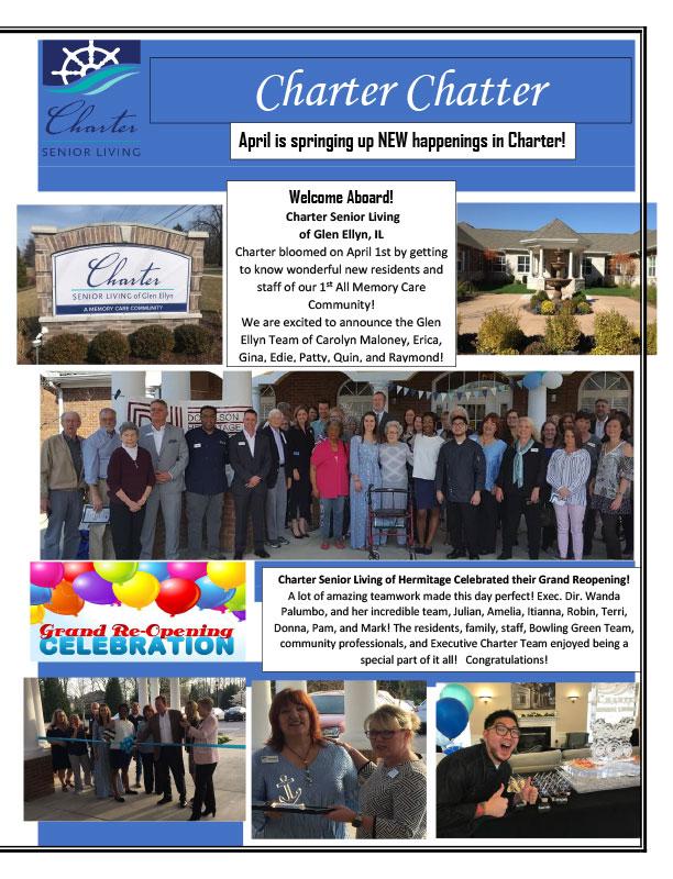 April Charter Chatter Newsletter